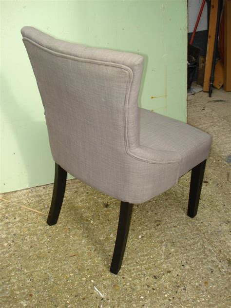 buy dining lounge chair button back grey associates