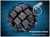 cyber terrorism editable word template  design