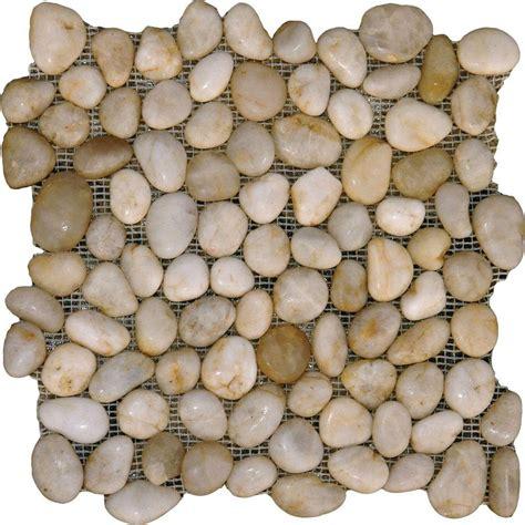 river rock tile ms international white river rock 12 in x 12 in x 10 mm