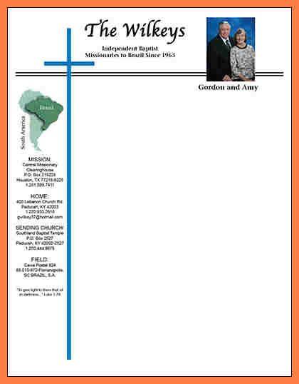 church letterhead templates company letterhead