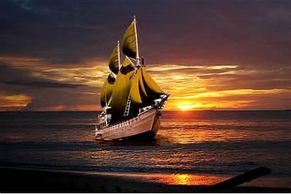 Kapal Laut Gambar Layar Berlayar Yang Perahu
