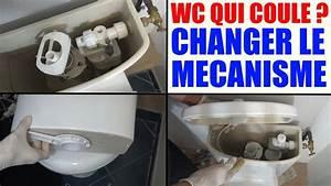Mécanisme Chasse D Eau Wc : toilette qui fuit wc qui coule changer mecanisme de chasse ~ Melissatoandfro.com Idées de Décoration