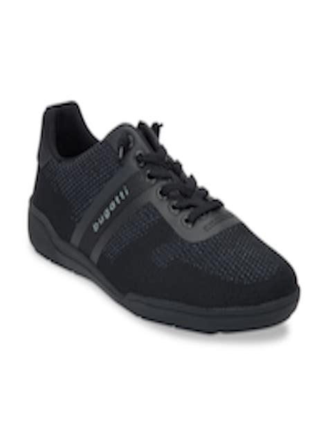 Bugatti shoes india is a brand that crafts exemplary shoes for men. Buy Bugatti Men Black Sneakers - Casual Shoes for Men 9379829 | Myntra