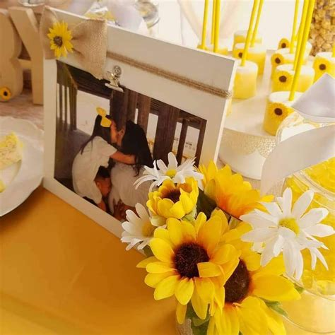 Rustic Sunflower Baby Shower Party Ideas Photo 1 of 8 in