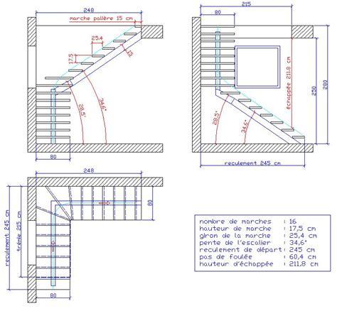 plan escalier quart tournant escalier un quart tournant limon central avec des marche balanc 233