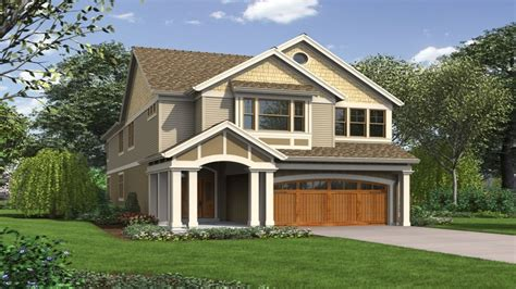 Narrow Lot House Plans with Garage Best Narrow Lot House