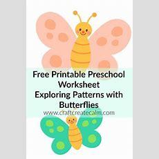 Preschool Printables Free Butterfly Printablescraftcreatecalm  Preschool Math Activities