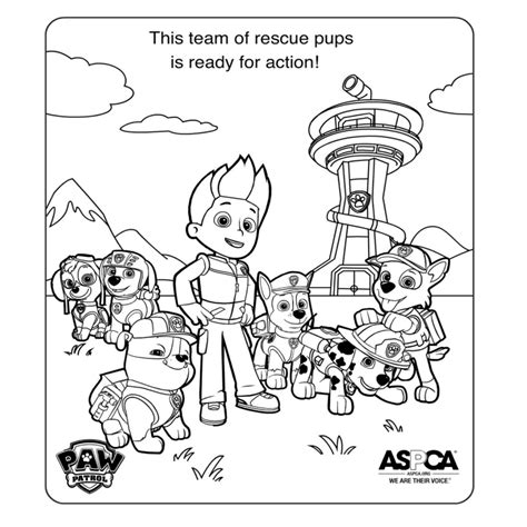 Paw Coloring Pages Coloring Home Marshall Vehicle Picture To Color