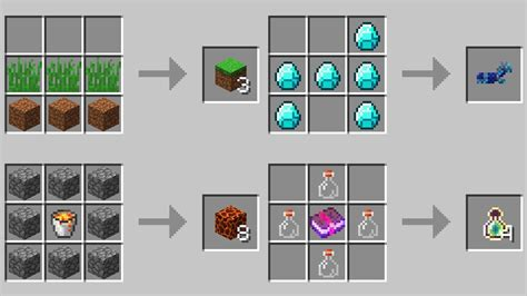 crafting table recipes minecraft  snapshot youtube