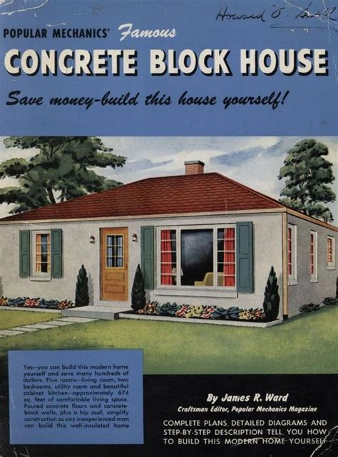 popular mechanics famous concrete block house popular mechanics press james  ward
