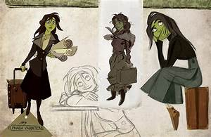 WICKED Imagined as a Disney Animated Film - Character Art ...