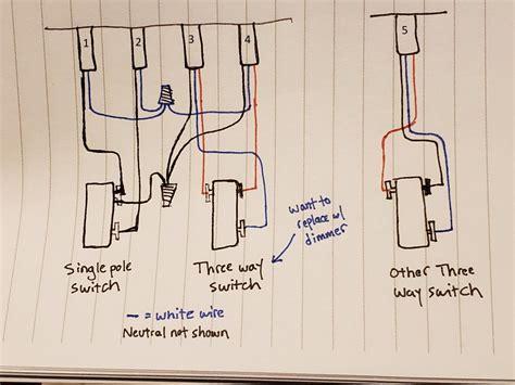 replacing   switch  dimmer strange wiring