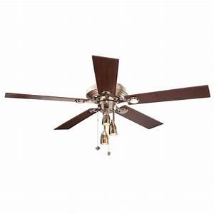 Hampton bay irondale in brushed nickel ceiling fan