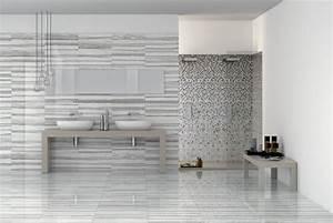 Badezimmer Fliesen Grau Weiß : badideen 55 badfliesen ideen und moderne designs ~ Watch28wear.com Haus und Dekorationen