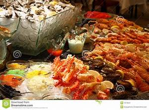 Christmas seafood buffet stock image Image of shell, legs