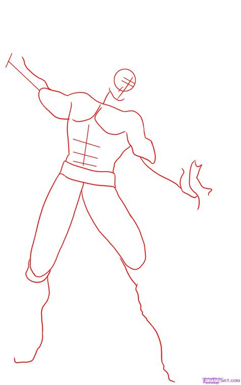 How To Draw Kratos Step By Step Video Game Characters