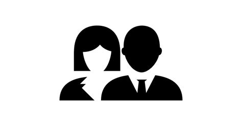 Woman and Man - Free people icons