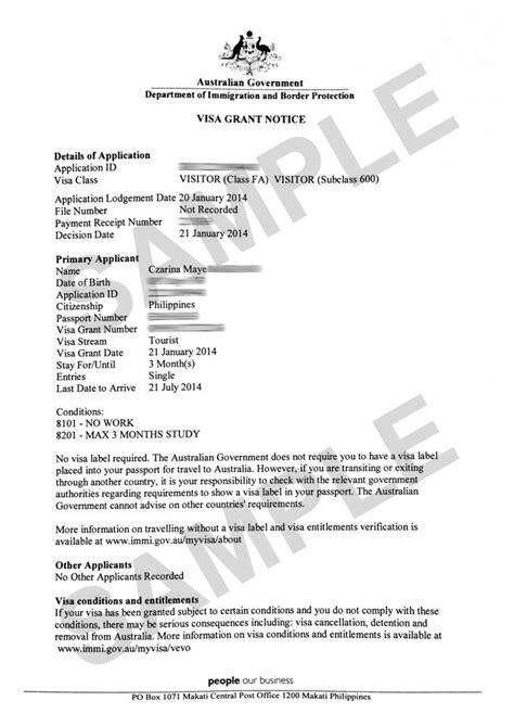 Sample covering letter for tourist visa australia - csusm