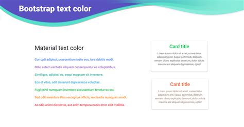 bootstrap text color examples tutorial basic