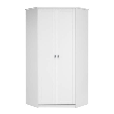 White Storage Closet Wardrobe by Corner Wardrobe In White With Storage Favorite