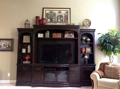 Entertainment Center Decor  For The Home Pinterest