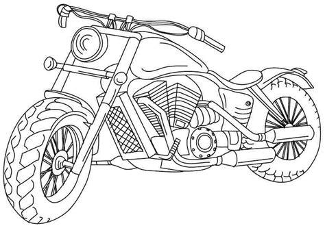 Kleurplaat Batmobiel by Sporty Motorcycle Coloring Pages Picolour