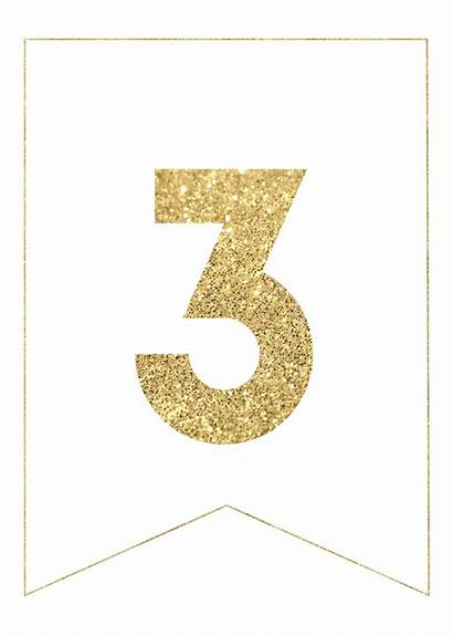 Banner Gold Printable Letters Papertraildesign Paper Banners