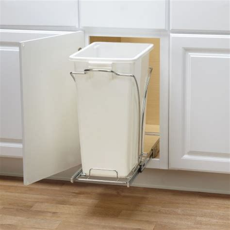 cabinet trash can slider household essentials cabinet single sliding trash
