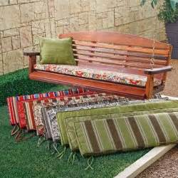 atrium 53 x 14 porch swing and glider cushion zoe citrus contemporary outdoor pillows by