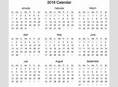 Blank 2018 Calendar monthly printable calendar