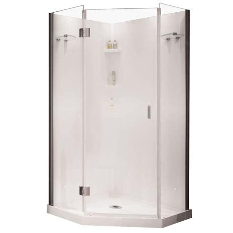 Shower Stalls Canada by Yarrow Neo Angle Polystyrene Frameless Shower Kit