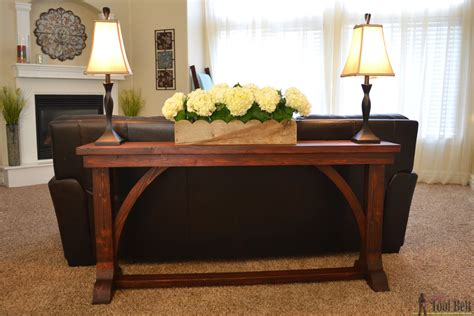 narrow table behind couch narrow sofa table her tool belt