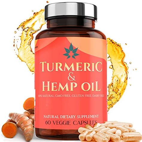 Turmeric Capsules with Hemp Oil | 95% Turmeric Curcumin ...