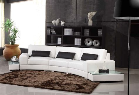 canapé d angle arrondi but deco in canape d angle arrondi cuir noir atlanta