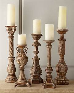 five tuscan wash candlesticks traditional With kitchen cabinets lowes with t lite candle holders