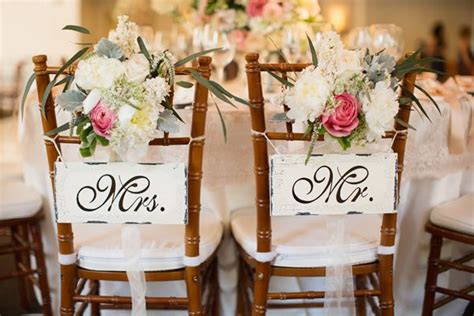 mr mrs signs for chairs wedding ideas