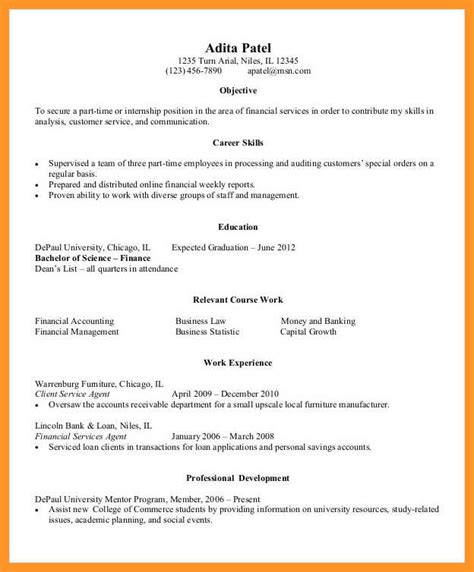 Student Resume Sle by 11 12 Entry Level College Student Resume Sles