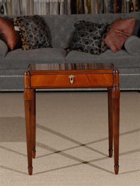 style deco 1930 1930 s mahogany deco style side table with drawer at 1stdibs