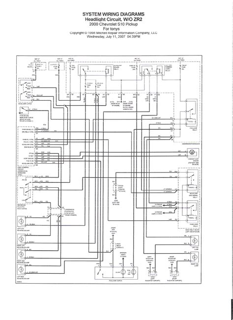 need diagram for wires to and from each high beam headl