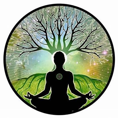 Meditation Silhouette Meditating Glowing
