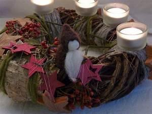 Künstlicher Adventskranz Dekoriert : adventskranz zwergenland waldorf art natur von holzwolle ~ Michelbontemps.com Haus und Dekorationen