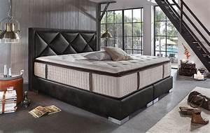 Bett 200x200 Günstig : boxspringbett joker deluxe schwarz luxusschlafzimmer ~ Watch28wear.com Haus und Dekorationen