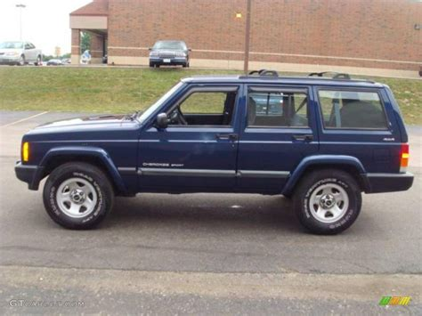 cherokee jeep 2000 2000 patriot blue pearl jeep cherokee sport 4x4 14578638