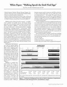 Gait Speed Chart Pdf Walking Speed The Functional Vital Sign