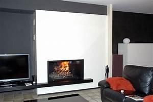 Cheminée Bois Design : fabrication de chemin e contemporaine sur mesure en seine ~ Premium-room.com Idées de Décoration