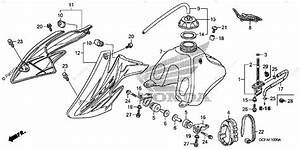 Honda Motorcycle 2005 Oem Parts Diagram For Fuel Tank