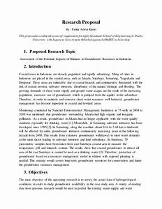 Sample Advertising Proposal Research Proposal Assessment Of The Potential Impacts Of