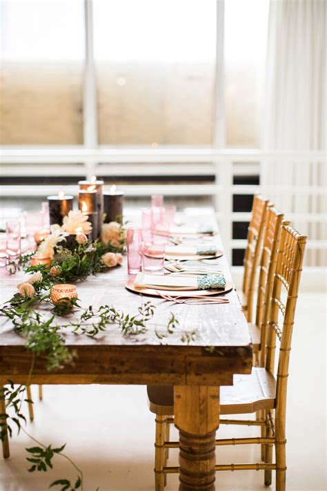 eclectic mint  rose gold wedding ideas  minted