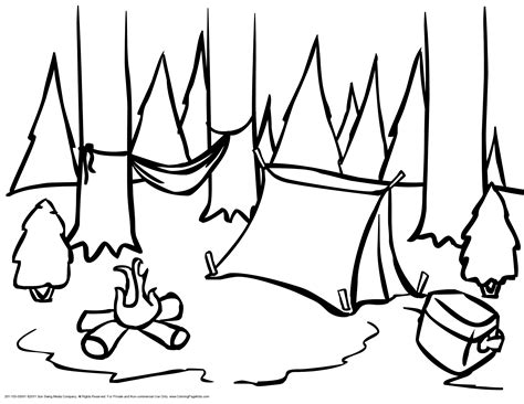 camping   woods coloring page coloring page kids