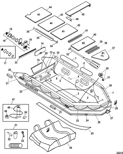 Parts Of An Inflatable Boat by Quicksilver Heavy Duty 380 Model With Aluminum Floors For